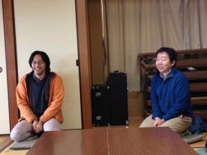 奥敬一さん(左)と住吉豊さん(右)