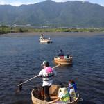近江舞子内湖でたらい舟