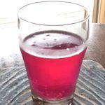 ピンクが美しい紫蘇ジュース
